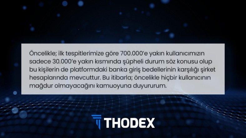 Thodex CEO'sundan Resmi Açıklama: Ortaya Atılan Tüm İddialar Asılsızdır