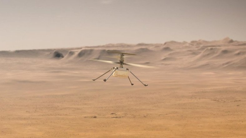 Uzay Tarihinde Yeni Bir Sayfa Açıldı: NASA'nın Mars Helikopteri, İlk Uçuşunu Başarıyla Tamamladı