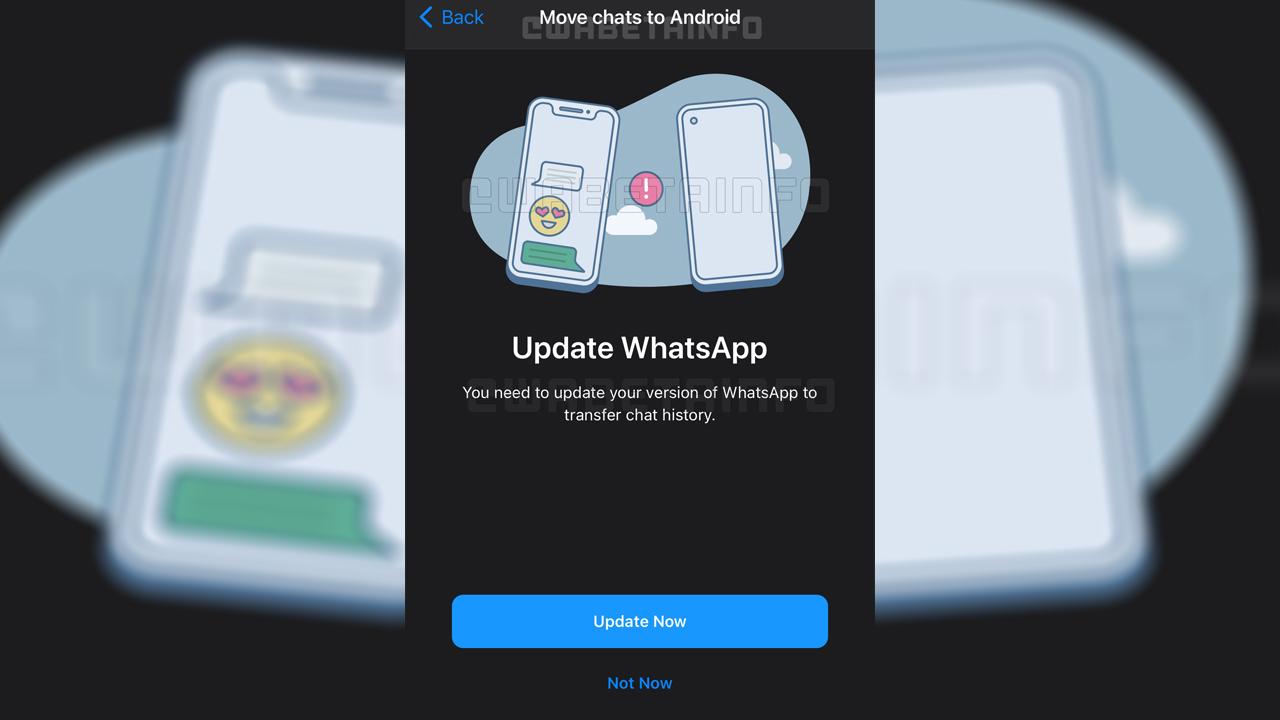 iOS - Android sohbet geçmişi aktarma
