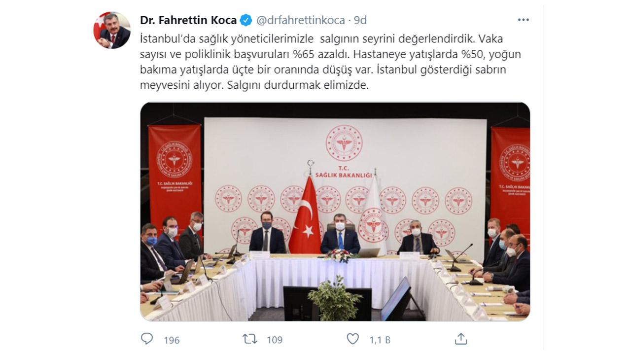 Fahrettin Koca Tweet