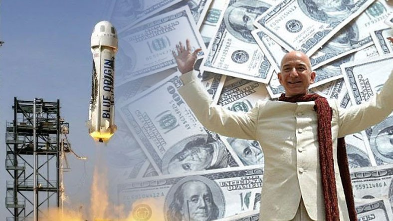 Jeff Bezos'un Uzaya Çıkmasıyla Blue Origin, 100 Milyon Dolarlık Bilet Satışı Gerçekleştirdi