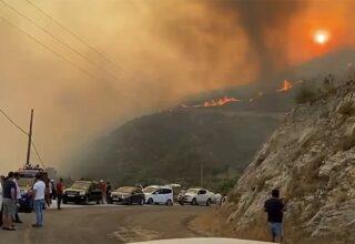 Muğla'daki Yangın ve Termik Santral Arasındaki Mesafe Korkutucu Derecede Azaldı [Video]