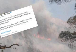 Orman Genel Müdürlüğü, Muğla'da Yangın Söndürme Helikopteri Düştüğü İddialarını Yalanladı