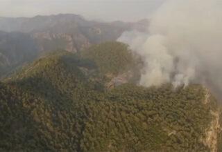 Şahan Gökbakar, Marmaris'teki Yangının Drone ile Çekilen Havadan Görüntüsünü Paylaştı [Video]