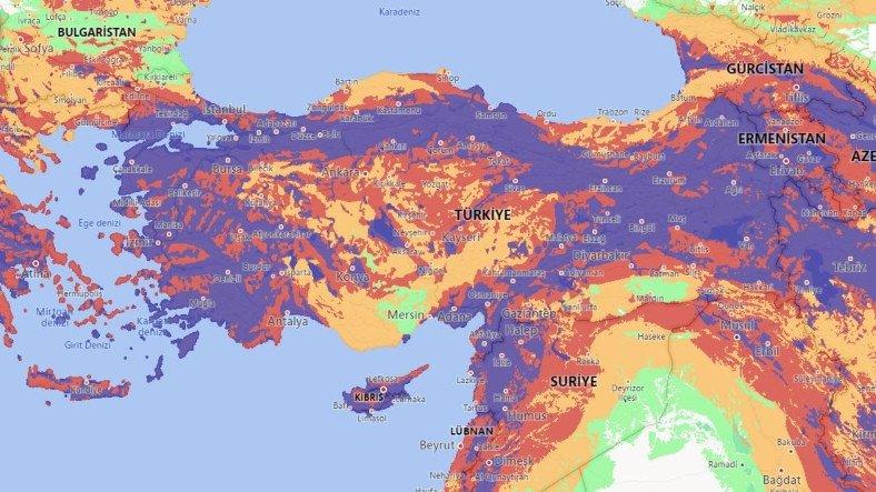 Türkiye'nin 'Kopkoyu' Göründüğü Dünyanın En Kapsamlı Çevrimiçi Deprem Haritası