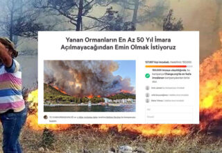 Yangında Yanan Alanların İmara Açılmaması İçin İmza Kampanyası Başlatıldı