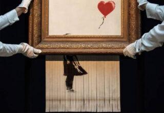 Planı Tersine Döndü: Graffiti Sanatçısı Banksy'nin Açık Artırmada Parçaladığı Eseri Yeniden Satışa Çıkıyor